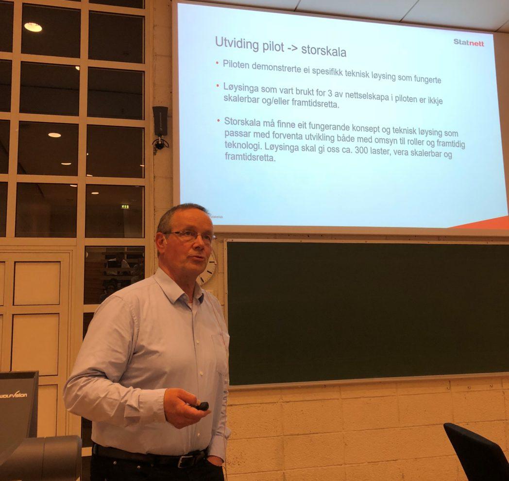 Knut Hornnes presenterte erfaringer fra storskala pilot