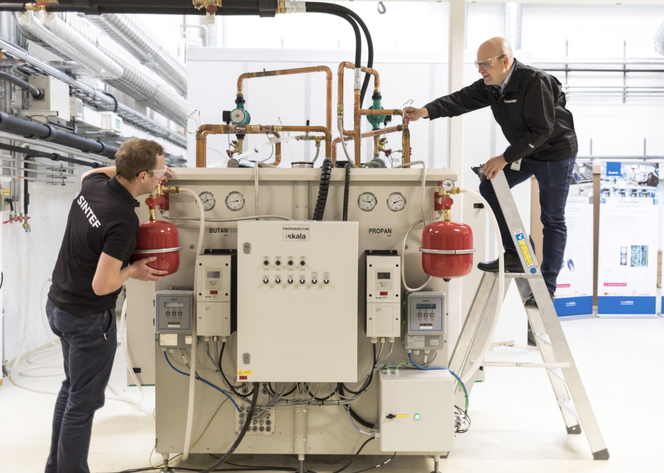 Phase-out of fossil fuels: SINTEF develops a novel high temperature heat pump