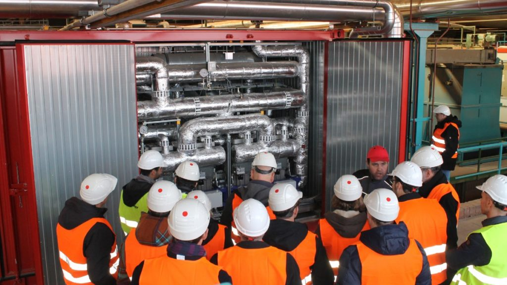 Industrial heat pump at the Wienerberger plant