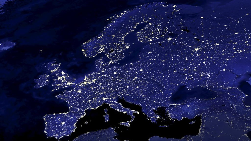 European energy map from space