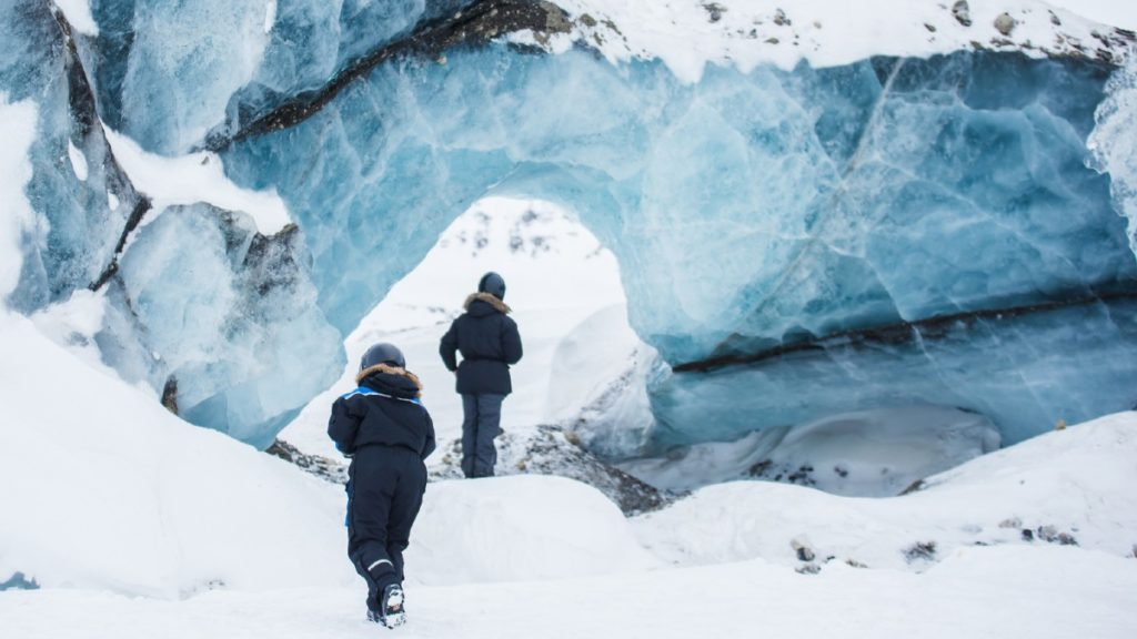 Research scientists working on Svalbard