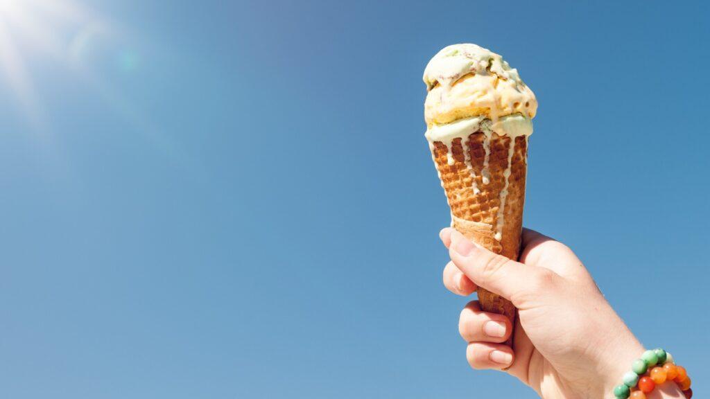 Ice-cream in the summer