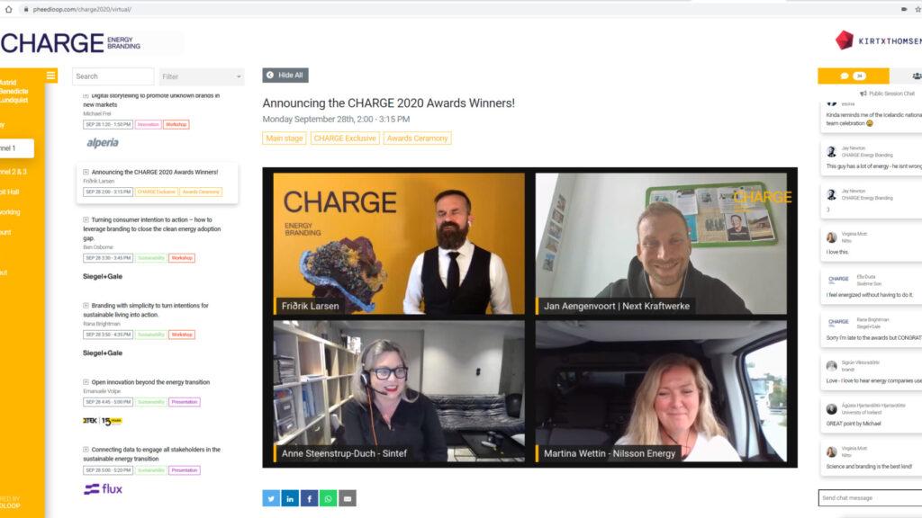 CHARGE Energy Award winners 2020