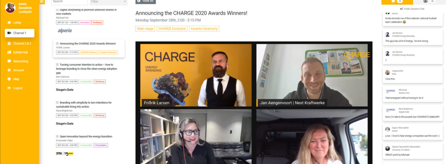 CHARGE Energy Award winners 2020