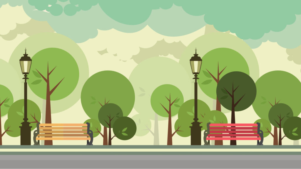 City trees graphic