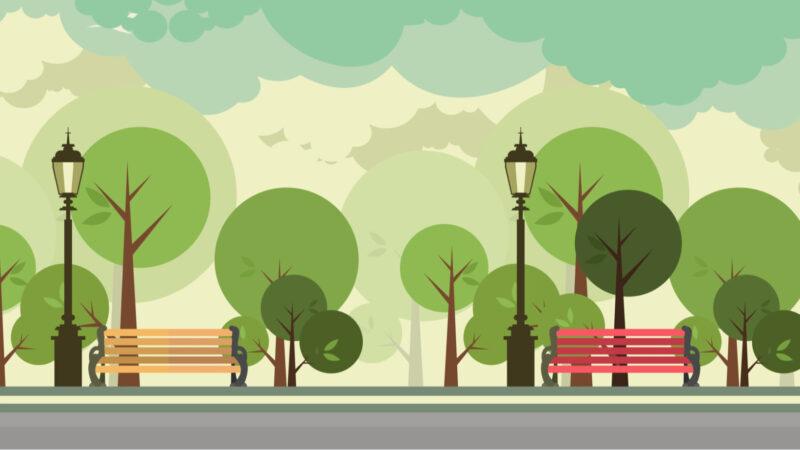 City trees graphic