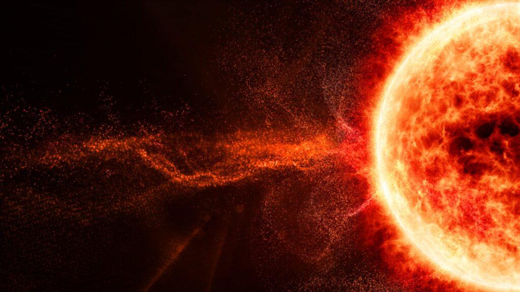 A solar storm can reach the Earth