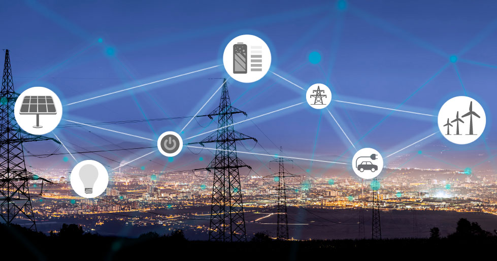 Image showing a representation of a smart grid