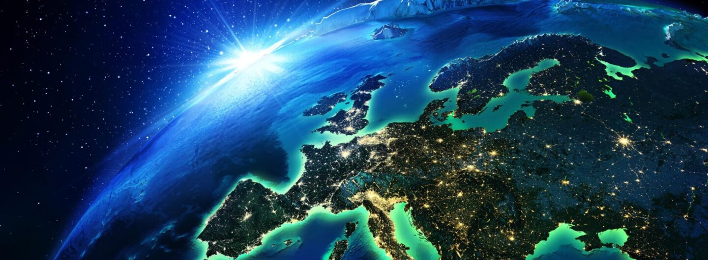 European continent from space